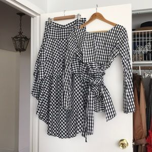 BACKSTAGE via URBAN OUTFITTERS gingham coord